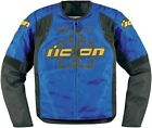 Icon™ Men's Overlord Blue Armored Motorcycle Jacket  2820-212_