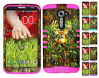 KoolKase Hybrid Silicone Cover Case for LG G2 - Camo Mossy Deer