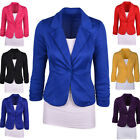 New Women's One Button Slim Casual Business Blazer Suit Jacket Coat Outwear Tops