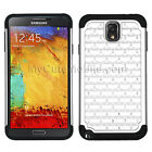 Samsung Galaxy Note 3 Flip Case - Hybrid Hard Snap-On+Silicone Combo Cover