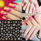 Hot Sale Christmas Snowflakes Design 3D Nail Art Stickers Decals Nail Decoration