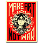 MAKE ART NOT WAR Art Silk Poster Print 12x18 24x36 inch