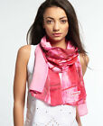 New Unisex Superdry Summer Scarf Pink Palm