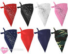 PACK OF BANDANA NECKERCHIEF WILD WESTERN FANCY DRESS ACCESSORY LOT CHOOSE STYLE