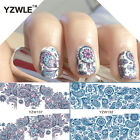 Nail Art Water Decals Stickers Wraps Pretty Lace Flowers Floral Gel Polish