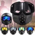 Removable Detachable Face Mask Motorcycle Racing ATV Helmet Goggles Glasses New