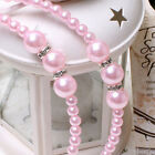 1 Pcs Kid Princess Headband with Pearl Rhinestones 3 Colors for Baby Girls New