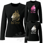ENGLISH BULL TERRIER GLITTER LADIES LONG SLEEVE T SHIRT BULL TERRIER GLITTER
