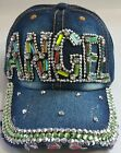 Denim Rhinestone Crystal Baseball Caps Ladies Fashion Accessories Ltd Edtn K lot