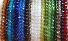 QUALITY GLASS BEADS - FACETED - ROUND - 6 mm - 1 Strand -  #F6