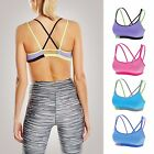 Women's Padded Cool-look Criss Cross Strappy Yoga Sports Bra