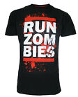 Darkside Clothing Size L Run Zombies Men's Black T-Shirt, CLEARANCE!!! REC DEL
