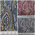 Discount Fabric Printed Lycra Spandex Stretch Paisley Choose Your Color PS