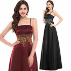 Vintage Long Maxi Party Evening Dress Bridesmaid Ball Gown Formal Cocktail UK 12