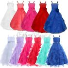 Pageant Flower Girl Dress Prom GownParty Princess Wedding Bridesmaid Formal Maxi