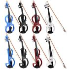 4/4 Electric Violin Full Right Handed Wood Size Silent Fiddle Headphone 2 Styles