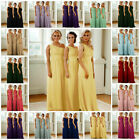 1 Shoulder Sequin Chiffon Bridesmaid Dress Evening Party Wedding Ball Gown Prom