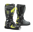 Forma Predator Motocross Enduro Offroad Trail Riding Boots Grey Hi Vis