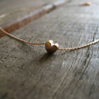 Rose Gold Heart Necklace,Simple Necklace,Love Charm,Minimalist,Everyday Necklace