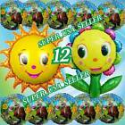 flowers vs zombies - HUGE SUN FLOWERS Plants vs Zombies Foil Balloons Decor Birthday Party Supply A