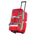 "Carry On Luggage with Wheels International 22"" 8-Pocket Rolling Duffel Airline"