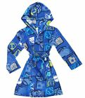 Komar Kids Boys Hooded Plush Fleece Wrap Bath Robe-Flame Resistant!
