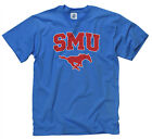 SMU Mustangs Adult Arch and Logo Short Sleeve T-Shirt - Royal