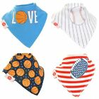 Zippy Baby Bandana Bib Dribble Feeding 100% Cotton Boy Stylish – 1 or 4 Pack