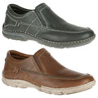 Mens Hush Puppies Briggs Tallon Slip On Casual Loafer Shoes Sizes 6 to 12