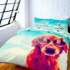 Catherine Lansfield It's A Dogs Life Panel Print Quilt / Duvet Cover Bedding Set