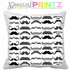 MUSTACHE CUSHION COVER GIFT FATHERS DAY CHRISTMAS SHABBY CHIC