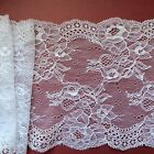 "NEW~Clipped White Wide Delicate Flower Lace 6.5""/16 cm Craft/Trim"