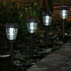 Charleston Auto-On LED Solar Power Steel Pathway Lights 6-Pack
