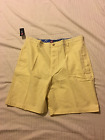 CHAPS: Men Flat Front Trouser Style Casual Shorts: Yellow, 38W