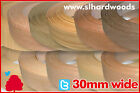 Pre Glued Iron On Edging Real Wood Veneer Edge Banding Tape 30mm Various Species