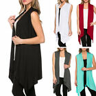 Fashion Women Girl Casual Summer Sleeveless Coats Waistcoat Vest Long Shirt Tops