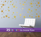 MIXED 1, 2 and 3 inch STARS set, pack of 90, wall art sticker decal baby nursery