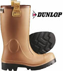 DUNLOP PUROFORT RIG AIR SAFETY WELLINGTON BOOTS - BROWN / BLACK - NEW & BOXED