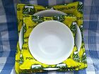 Handmade quilted Microwave Bowl Cozy/Holder-Portland Timbers Neon Yellow fabric