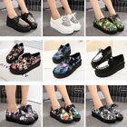 NEW WOMEN BLACK PLATFORM LACE UP WEDGE FLATS CREEPERS PUNK GOTH SHOES SIZE PLUS