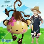 HUGE MONKEY SAFARI & BARN ANIMALS BALLOONS Decor Shower Birthday Party Supplies