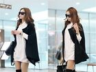 Women Autumn Winter Oversize Sleeveless Gown Bat Sleeve Jacket Coat Parka