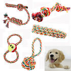 Chew Toy with Knot Fun Tough Strong Puppy Dog Pet Tug War Play Cotton Rope Bone