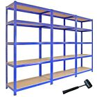 Metal Racking Bays 5Tier Freestand Garage Shelving Heavy Duty Storage Rack Units <br/> ✔Multibuy Savings ✔Over 1,000 Bought ✔FREE MALLET