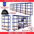 Metal Racking Bays 5Tier Freestand Garage Shelving Heavy Duty Storage Rack Units