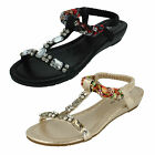 LADIES SPOT ON SLINGBACK SANDALS WITH WEDGE HEEL (2 COLOURS) STYLE: F10746