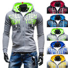 New men's Hooded  sets of sweater youth printing multicolor zipper jacket