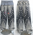 Harem Hippy Aladdin Hmong Genie Baggy Mens Womens Gypsy Ali Baba Pants Trousers