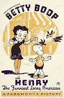 Betty Boop with Henry 1935 Vintage Movie Poster Reprint $25.95 USD