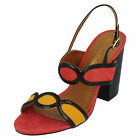 LADIES ANNE MICHELLE ORANGE OPEN TOE SANDALS WITH SLINGBACK STRAP STYLE: F10646